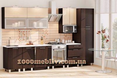 Кухня Софт венге/дуб молочный (КХ-76)