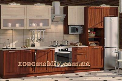 Кухня Престиж дуб молочный/орех КХ-426