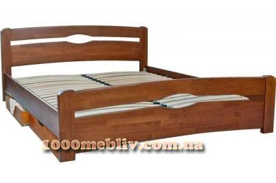 Кровать Нова с ящиками орех