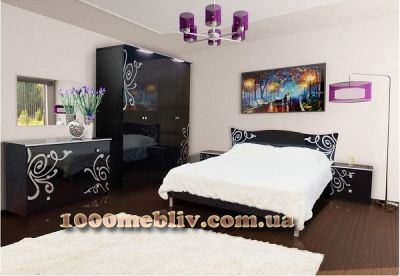 Спальня Фелиция Новая черная
