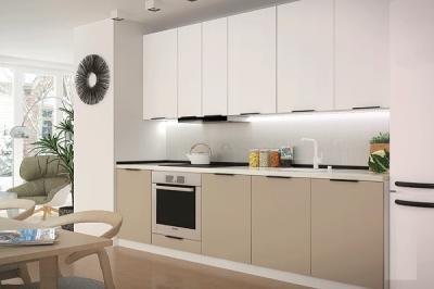Кухня FLAT белый/бежевый