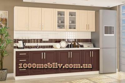 Кухня Гамма матовый винный Мебельсервис