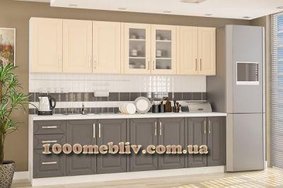 Кухня Гамма бежевый матовый Мебельсервис