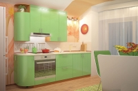 Кухня МоДа Фисташка металлик