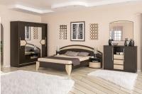 Спальня Аляска венге темный Мебель-Сервис