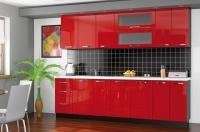 Кухня Гамма красный глянец Мебельсервис