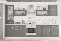 Кухня Гамма серый матовый Мебельсервис