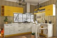 Кухня Шарлотта Сокме желтый/дуб крафт белый