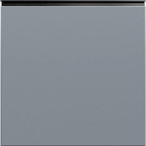 Кухня RioLine серо-голубой матовый - Черная ручка BL