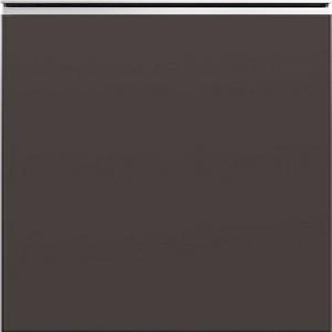 Кухня RioLine серо-голубой матовый - Темно-коричневый матовый М08