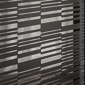 Зеркало Фиеста - Черный с выборочной лакировкой