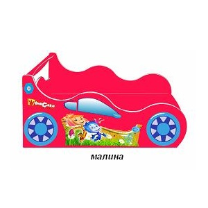 Кровать Такси Форсаж - Малиновый