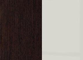 Шкаф SZF 6D2S Каспиан - Венге/Серый глянец