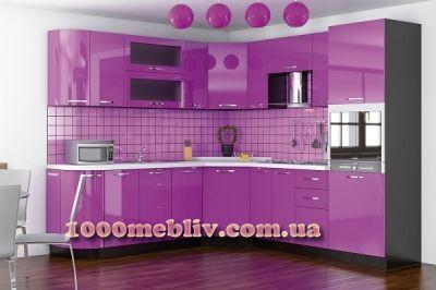 Кухня Гамма фиолетовый глянец Мебельсервис