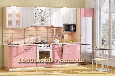 Кухня Хай-Тек розовый глянец перламутр