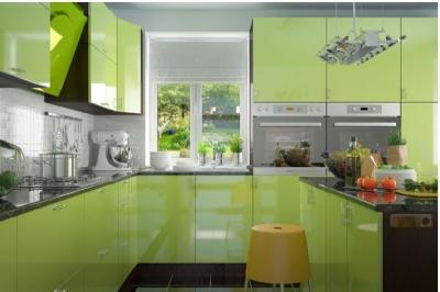 Кухня Колор-MIX салатовый глянец