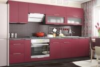 Кухня FLAT бордовый