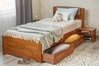 Кровать Лика Люкс с мягкой спинкой и ящиками Олимп