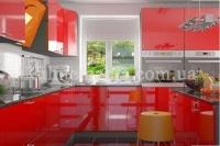 Кухня Колор-MIX красный глянец