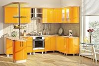 Кухня Хай-Тек лимон глянец