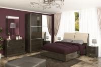 Спальня Лондон лак темная Мебель-сервис