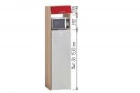 Шкаф Т-2896 под холодильник Хай-Тек - фото 2