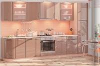 Кухня Хай-Тек медовый глянец