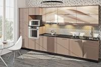 Кухня Хай-Тек латте глянец