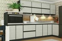 Кухня ALTA дуб крафт белый/черный