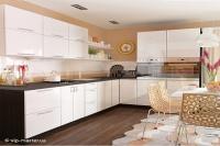 Кухня Колор-MIX белый глянец