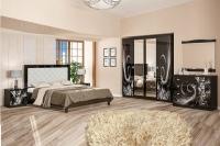 Спальня Ева черный глянец