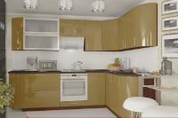 Кухня Колор-MIX кофейный глянец