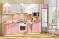 Кухня Хай-Тек розовый глянец
