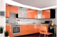 Кухня Колор-MIX оранж глянец