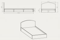 Кровать-90 Компанит - фото 2