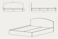 Кровать-140 Компанит - фото 2