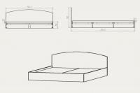 Кровать-160 Компанит - фото 2