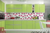 Кухня ALTA лайм/алюминий