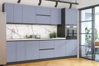 Кухня RioLine серо-голубой матовый