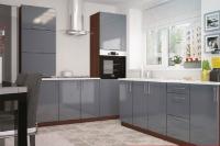 Кухня Колор-MIX серый глянец