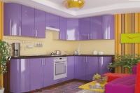 Кухня КОЛОР-MIX сирень глянец