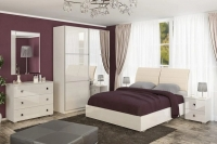Спальня Лондон лак светлая Мебель-сервис